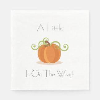 A Little Pumpkin Napkins Paper Napkin