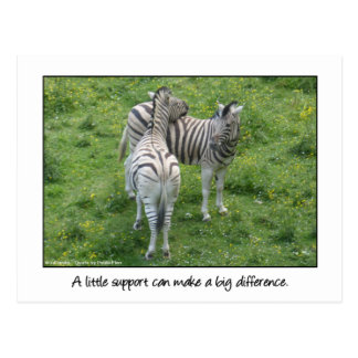 A little support...Love and Friendship Postcard