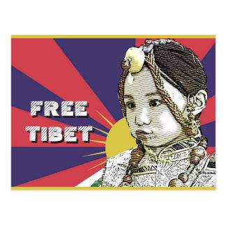A little Tibetan girl  SAVE TIBET~! FREE TIBET! Postcard