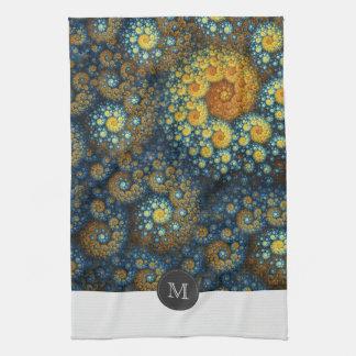 """a.lone"" Abstract Organic Fractal Custom Tea Towel"