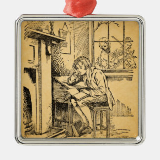 A Lonely Boy Metal Ornament