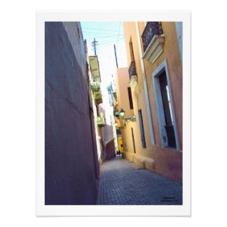 A Lonely Street in Old San Juan Photo Print