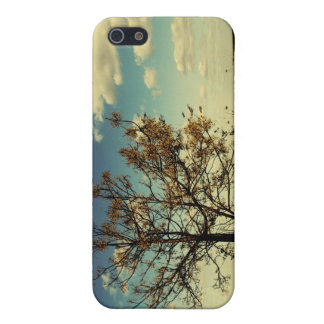 A lonely tree in a yellow dry field iPhone 5 case