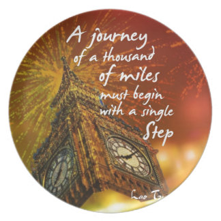 A long road starts with a single step plate