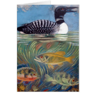 A Loon in the Fish Pond Card