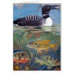 A Loon in the Fish Pond Greeting Card
