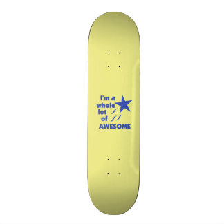 A Lot of Awesome - Yellow Background Skate Decks