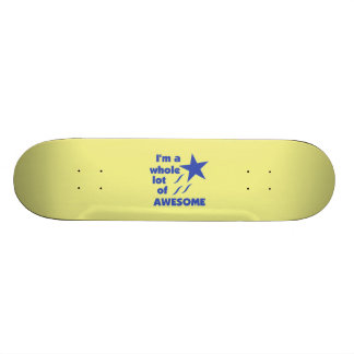 A Lot of Awesome - Yellow Background Skate Board Decks