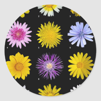 A lot of flowers classic round sticker