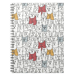A lot of funny cats spiral notebooks