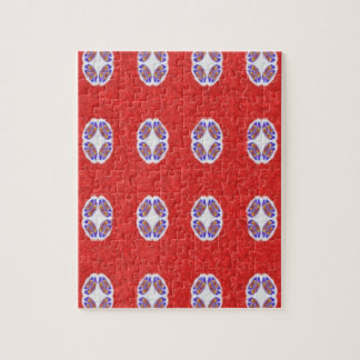 A lot of red abstract pattern jigsaw puzzle