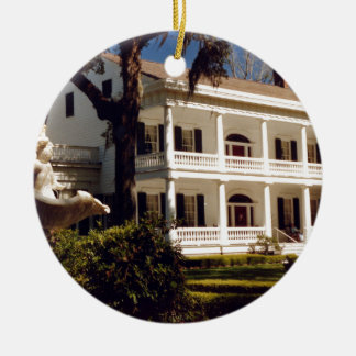 A Louisiana Plantation Ceramic Ornament