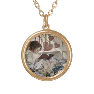 A love of Reading Gold Plated Necklace
