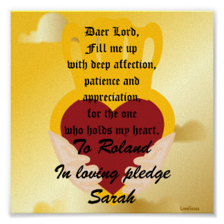 A Love Pledge Poster-Customize Poster