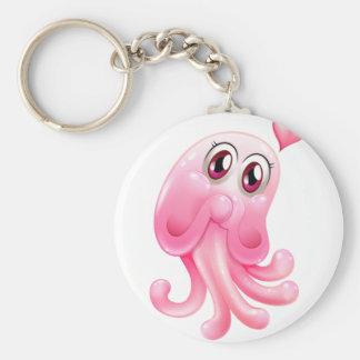 A lovely octopus monster key ring