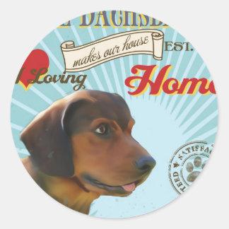 A Loving Alpine Dachsbracke Makes Our House Home Round Sticker