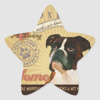 A Loving Boxer Makes Our House Home Star Sticker