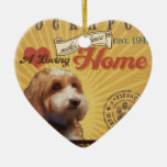 A Loving Cockapoo Makes Our House Home Ceramic Heart Decoration