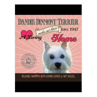 A Loving Dandie Dinmont Terrier Postcard