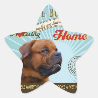 A Loving Dogue de Bordeaux Makes Our House Home Star Sticker