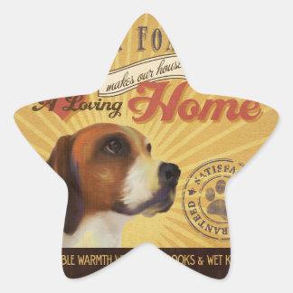 A Loving English Fox Hound Makes Our House Home Star Sticker