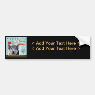 A Loving Malamute Makes Our House Home Bumper Sticker