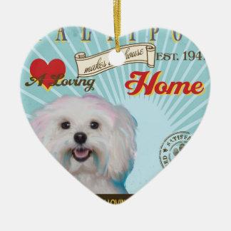 A Loving Maltipoo Makes Our House Home Ceramic Ornament