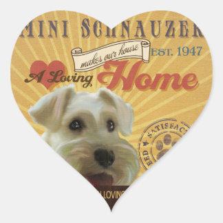 A Loving Mini Schnauzer MakesOur House Home Heart Sticker