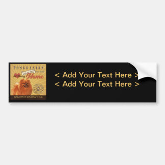 A Loving Pomeranian Makes Our House Home Bumper Stickers