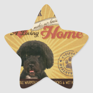 A Loving Portie Makes Our House Home Star Stickers