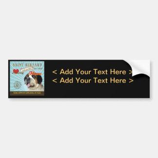 A Loving Saint Bernard Makes Our House Home Bumper Stickers