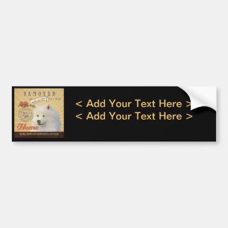 A Loving Samoyed Makes Our House Home Bumper Stickers