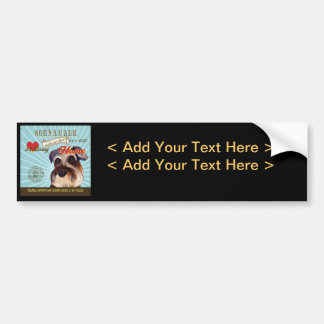 A Loving Schnauzer Makes Our House Home Bumper Stickers