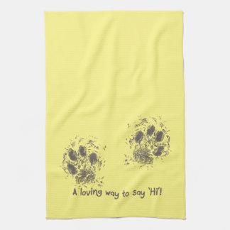 A loving way tons say 'Hi' Tea Towel