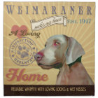 A Loving  Weimaraner Makes Our House Home Napkin
