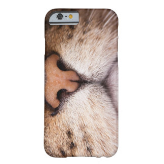 A macro image of a cat's nose and mouth. barely there iPhone 6 case