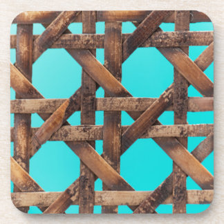 A macro photo of old wooden basketwork. coaster