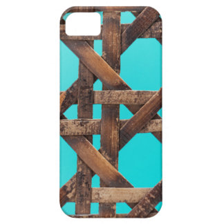 A macro photo of old wooden basketwork. iPhone 5 case