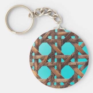 A macro photo of old wooden basketwork. key ring