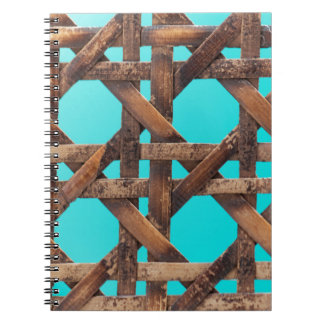 A macro photo of old wooden basketwork. notebook