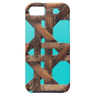 A macro photo of old wooden basketwork. tough iPhone 5 case