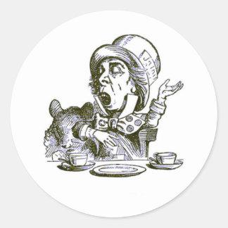A Mad Hatter Speech Classic Round Sticker