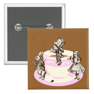 A Mad Tea Party 15 Cm Square Badge