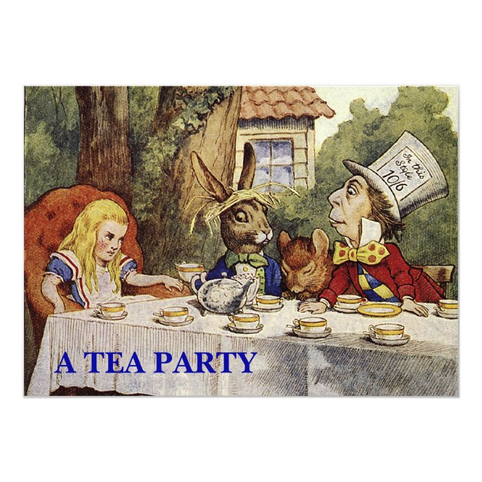 A Mad Tea Party INVITE