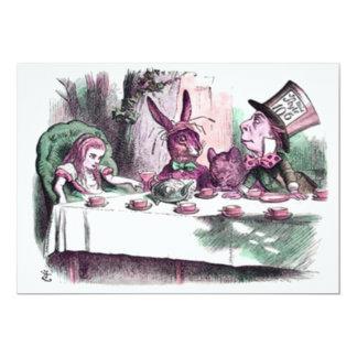 A Mad Tea Party Pastels 13 Cm X 18 Cm Invitation Card