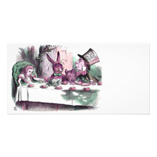 A Mad Tea Party Pastels Customised Photo Card