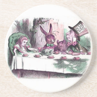 A Mad Tea Party Pastels Drink Coaster
