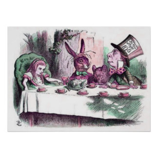 A Mad Tea Party Pastels Poster