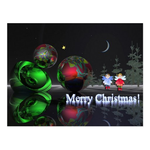 A magical christmas night postcards
