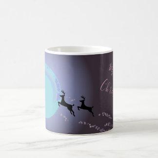 A Magical Christmas Night Reindeers Coffee Mug